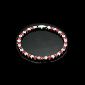 RUBY AND WHITE SAPPHIRE TENNIS BRACELET